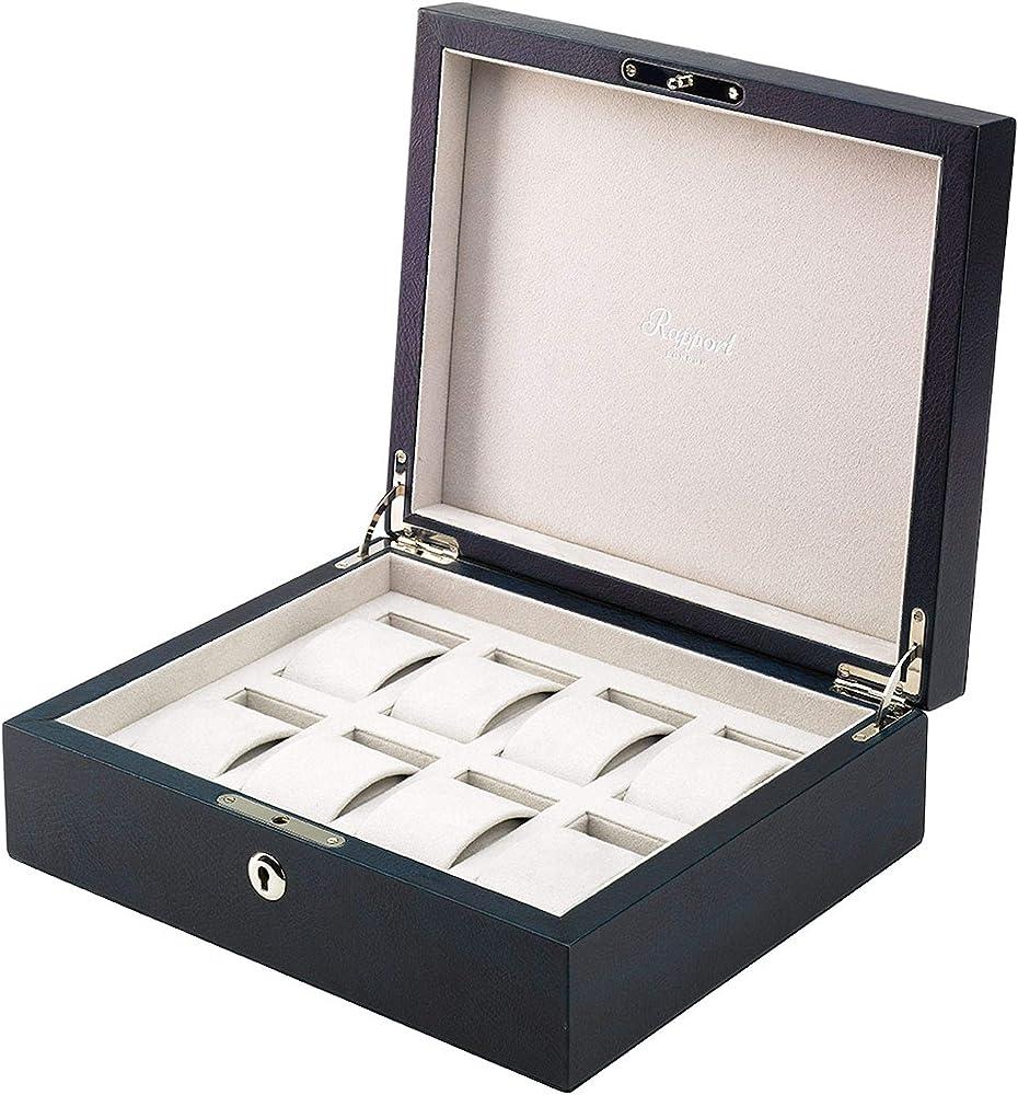 Rapport londra scatola vintage pelle otto orologi lussuoso collector box L430