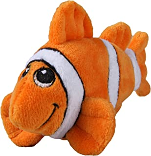 SmartPetLove Tender-Tuffs - Tiny Plush Toys for Puppies and Small Breeds (Orange Clownfish)