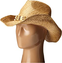 RHC1078 Raffia Cowboy Hat with Beaded Band