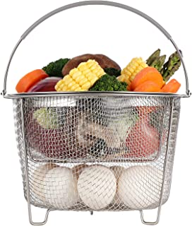 Aozita Steamer Basket for Instant Pot Accessories 6 qt or 8 quart – 2 Tier..
