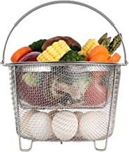 Aozita Steamer Basket for Instant Pot Accessories 6 qt or 8 quart - 2 Tier Stackable 18/8 Stainless Steel Mesh Strainer Ba...
