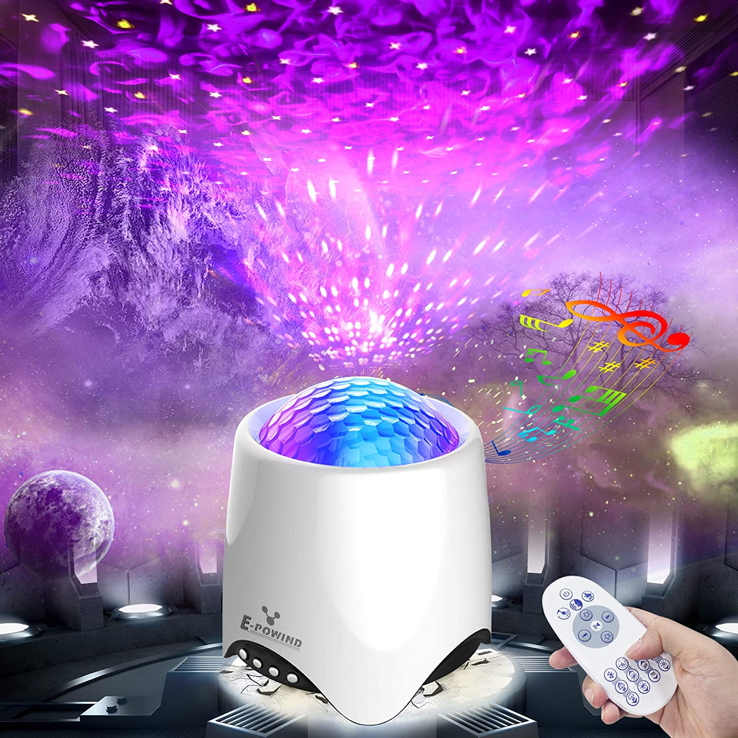 Indefinitely Voice Control Star Light Charlotte Mall Projector for Bedroom Starry E-POWIND