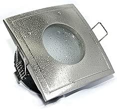 4 x Feuchtraumstrahler//Spot Aqua IP65 in edelstahl-geb/ürstet inklusive Hochvolt GU10 und Niedervolt MR16 Fassung