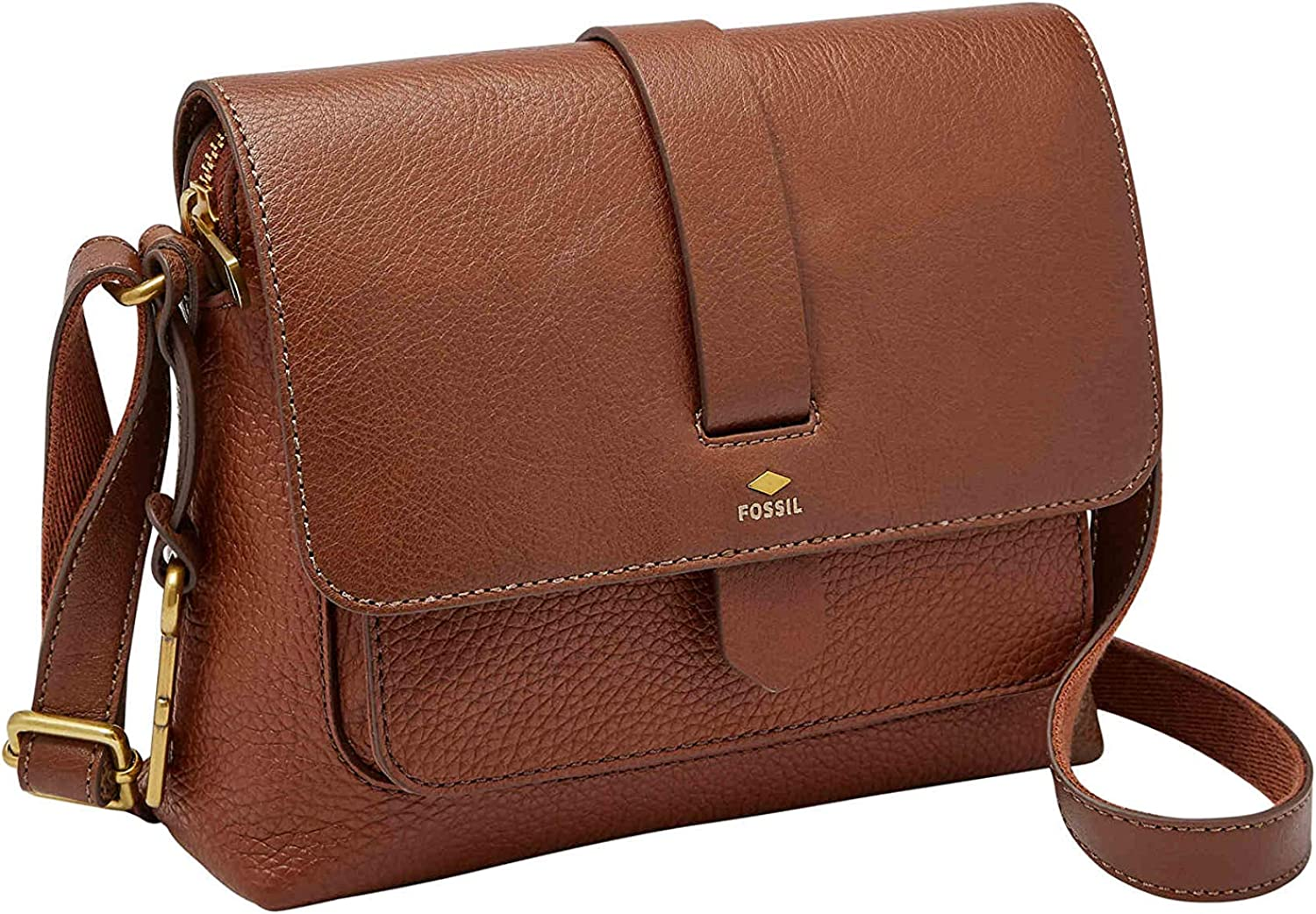 Fossil Kinley Small Crossbody Brown 2 One Size