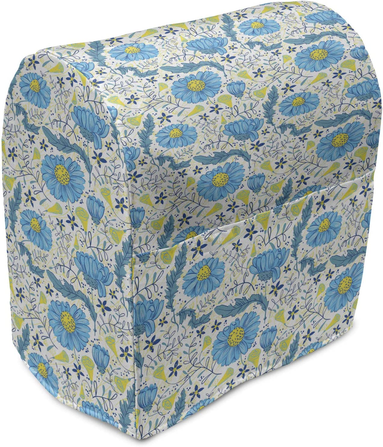 Lunarable Blue security Floral Stand Mixer All stores are sold Field Refreshing Cover Daisy