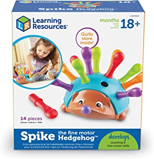 Learning Resources Spike The Fine Motor Hedgehog - Juguetes para desarrollar Motricidad Fina y Sensorial, Juguetes educati...