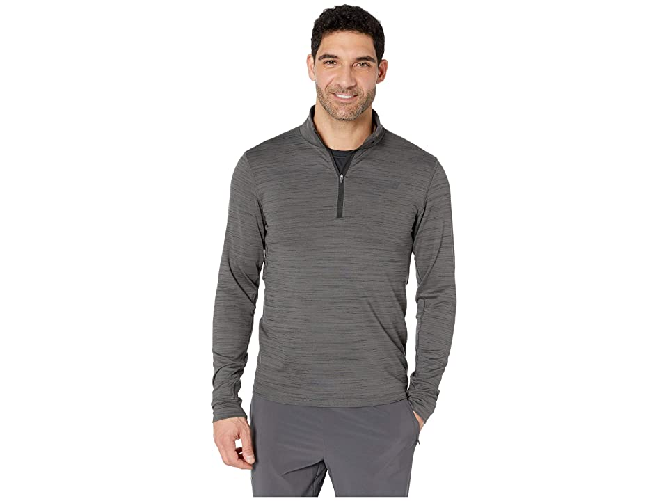 New Balance Anticipate 2.0 1/4 Zip (Heather Charcoal) Men