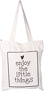 Eco-Friendly Cotton Tote Bag with Zipper - Enjoy Little Things