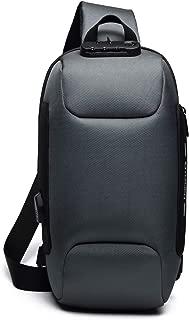 ボディバッグ USB充電ポート搭載 斜めがけ ワンショルダーバッグ メンズ 旅行カバン 盗難防止 防水 9.7インチiPad収納可