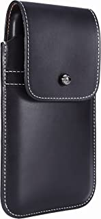 Limited Edition: Blacksmith-Labs Barrett Mezzano 2017 Premium Leather Swivel Belt Clip Holster for Apple iPhone 7 Plus for use with Apple Leather Case - Horween Chromexcel Lapis Blue/Gunmetal