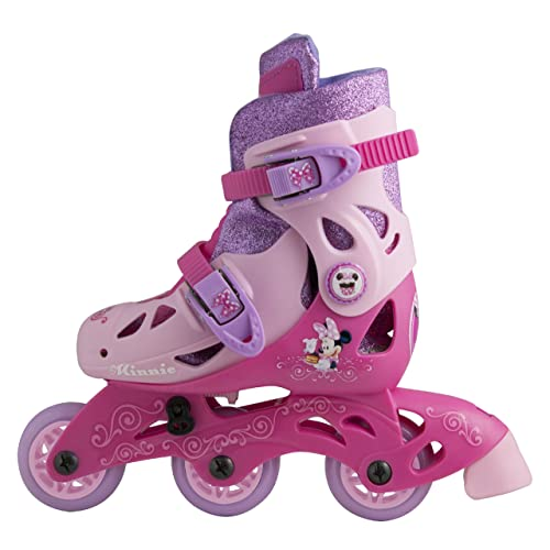 PlayWheels Disney Minnie Mouse Glitter Kids Convertible 2-in-1 Skates - Junior Size