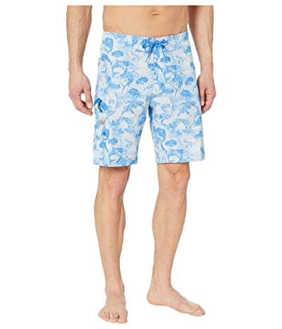 Columbia PFG Offshore II 9 inch Board Shorts (Vivid Blue Inside Out Camo) Men