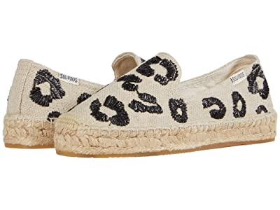 Soludos Leopard Platform Smoking Slipper (Sand) Women