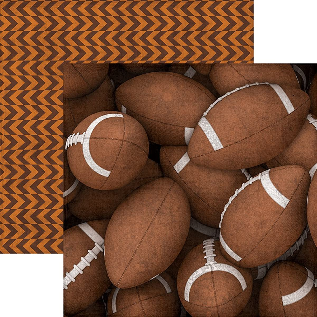 Paper House Productions P-2056E Footballs Football Double-Sided Cardstock, 12