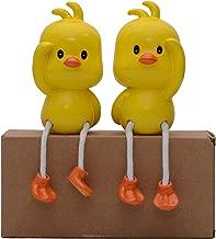 Store2508® Latku Cute Duck Polyresin Hanging Legs Showpiece (Pair)
