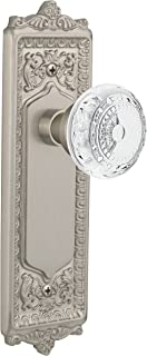"""(satinnickel, 2-3/4"""") - Nostalgic Warehouse Meadows Privacy Door Knob with Egg and Dart Plate"""