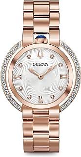 Bulova - Reloj Analógico para Mujer de Cuarzo con Correa en Acero Inoxidable 98R248