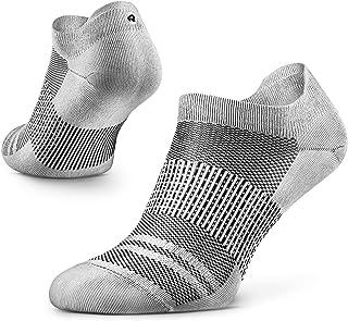 Agile Calcetines de Correr Ultralivianos para Hombres y Mujeres, Finos, Corte al Tobillo, Soporte de Arco Plantar, 100% Reciclados, Anti-Olor (1 Par)
