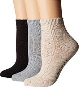 3-Pack Sweater Weight Ankle Socks