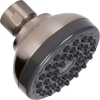 Pressure Boosting Shower Head - High Pressure Water Saver Showerhead Best For Low Flow Showers - Brushed Nickel