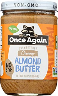 Once Again - American Classic Natural Almond Butter - Creamy No-Stir - 16oz Jar