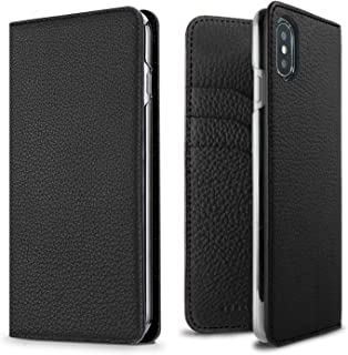 BONAVENTURA Leather Wallet Diary Flip Case [Compatible iPhone SE/5s/5 | Black]