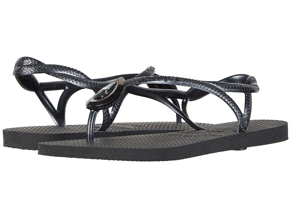Havaianas Luna Special Flip Flops (Black/Black) Women