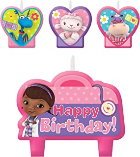 amscan Doc McStuffins Birthday Party Cake Candles - 4ct