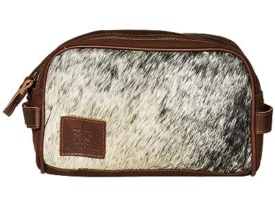 STS Ranchwear Cowhide Toiletry Bag (Cowhide/Tornado Brown) Bags