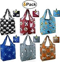 کیسه های مواد غذایی قابل استفاده مجدد قابل حمل 6 کیسه خرید 6 کیسه های مواد غذایی ناز بزرگ 50LBS کیف های دستی با کیسه فله Ripstop دستگاه ضد آب