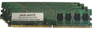parts-quick 4GB Memory Upgrade for Dell Dimension 9100 Desktop PC 4 X 1GB DDR2 Non-ECC PC2-4200 240 pin 533MHz DIMM RAM Brand