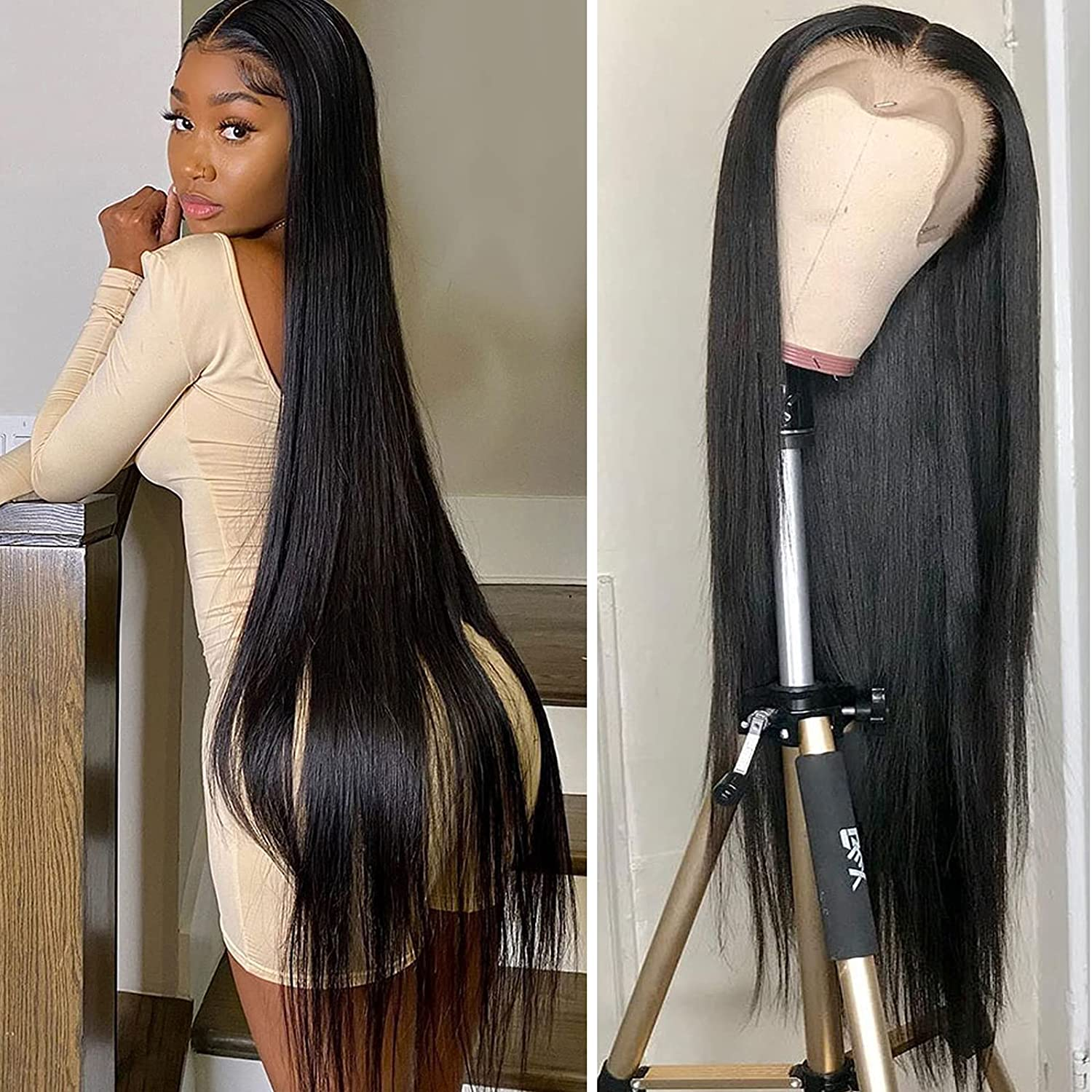 13x4 Daily bargain sale Lace Front Human Hair Frontal Ranking TOP4 Wigs Straight W Peruvian