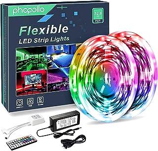 Phopollo LED Lights 32.8 FT RGB Led Strip Lights for...