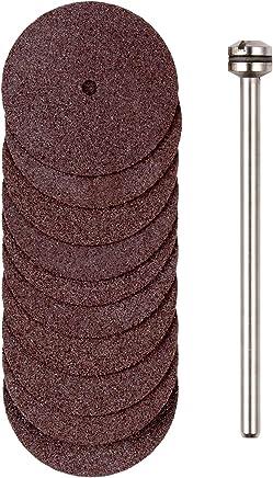 プロクソン(PROXXON) 切断砥石10枚 シャフト付 【砥石径22mm 厚み0.7mm 軸径2.35mm】 No.28810
