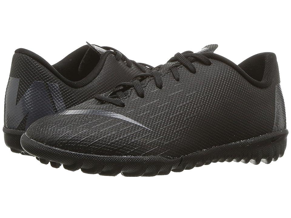 Nike Kids VaporX 12 Academy TF Soccer (Toddler/Little Kid/Big Kid) (Black/Anthracite/Black/Light Crimson) Kids Shoes