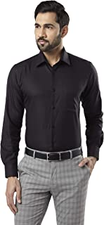 Raymond Black Regular Fit Cotton Shirt