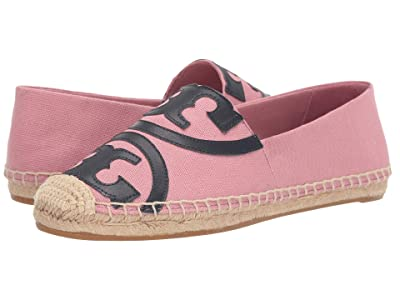 Tory Burch Poppy Espadrille Flat (Blushing/Perfect Navy) Women