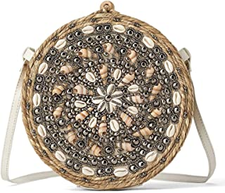 Zara Women Esparto crossbody bag with seashells 1625/004