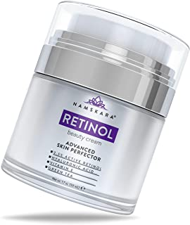 Namskara Retinol Moisturizer Cream with Active 2.5% Retinol & Hyaluronic Acid - Best Anti Wrinkle Day Night Face Cream with Natural and Organic Ingredients to Reduce Crow�s Feet & Fine Lines