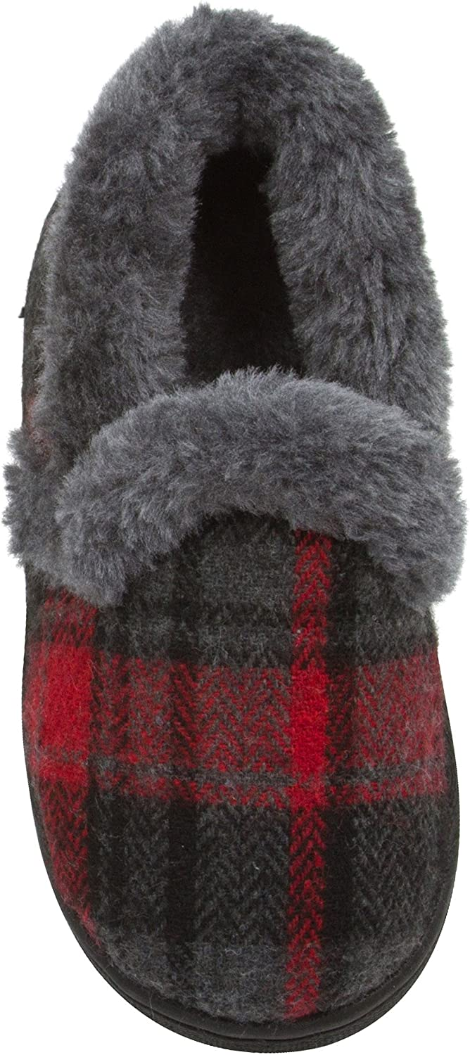 Skysole Boys Plaid Closed Back Slipper Gifts Limited Special Price with and Plush Rug Collor