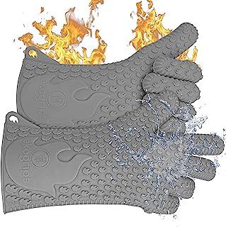 Jolly Green Products Guantes de cocina resistentes al calor   Marca líder para pitmasters   Diseñado en los Estados Unidos   3 tallas (L/XL, gris)
