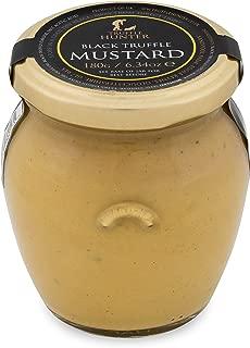 TruffleHunter Black Truffle Dijon Mustard (6.34 Oz) Gourmet Food Condiments Seasoning Garnish - Vegetarian, Vegan and Gluten Free