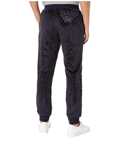 Emporio Armani Fuzzy Fleece Trousers (Marine) Men