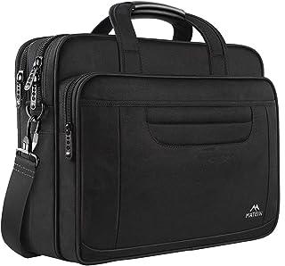MATEIN Borsa per Laptop, Valigetta Multifunzionale da 15.6 Pollici, Impermeabile Borsa Notebook Multifunzionale Borsa Mess...