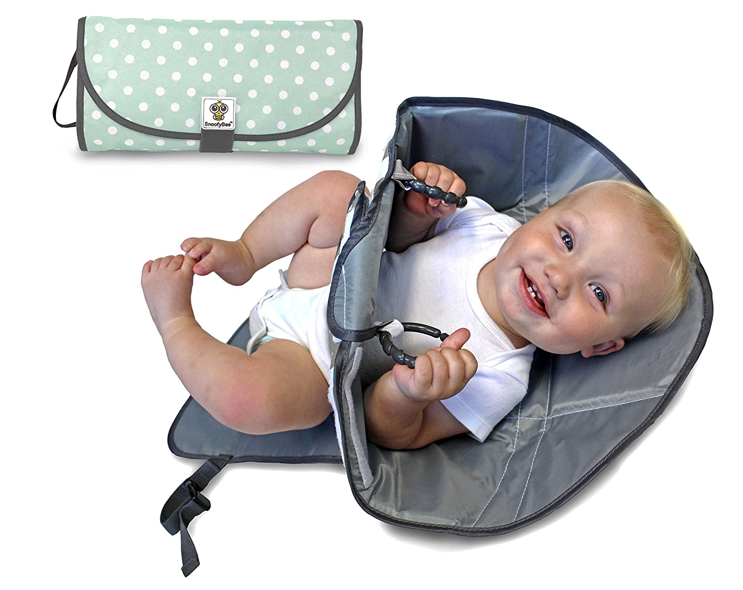 SnoofyBee half Portable Clean Hands Changing Clutc Diaper 3-in-1 New products world's highest quality popular Pad.