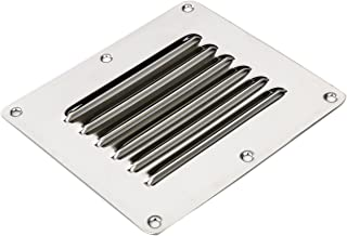 Amarine Made Stainless Steel Stamped Louvered Vent - Rectangular - 07722S - 4-1/2 X 5