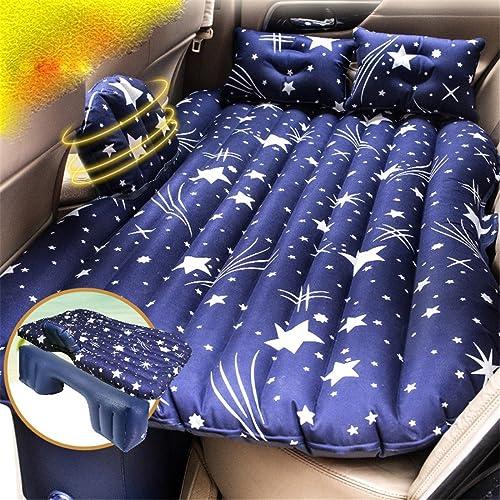 STAZSX Lit Gonflable de Voiture, Fournitures de Voiture, Matelas, rangée arrière, lit de Voyage, Voiture, SUV, Coussin de Couchage, airsac
