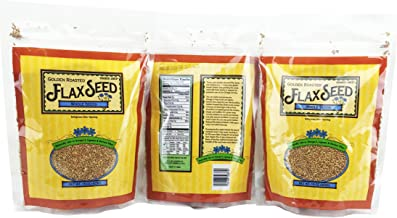 3 Pack Trader Joe's Golden Roasted Flax Seeds Whole Seeds