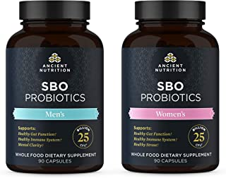 Ancient Nutrition Soil Based Organisms Probiotics Bundle, 2 Items - Men's SBO Probiotics 90 Capsules + Women's SBO Probiot...