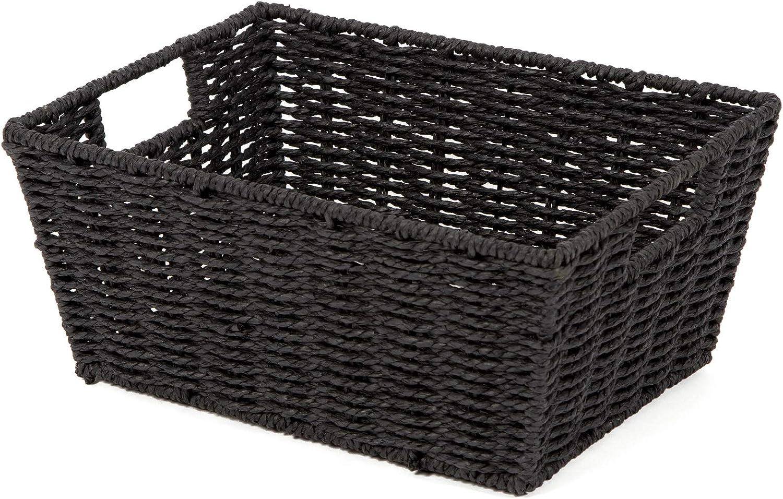 Compactor Etna Max 68% OFF Woven Basket Black Storage Max 88% OFF